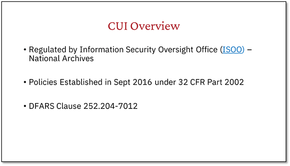 CUI Overview