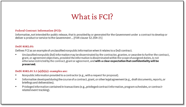 What is FCI?
