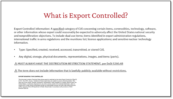 What is Export Controlled?