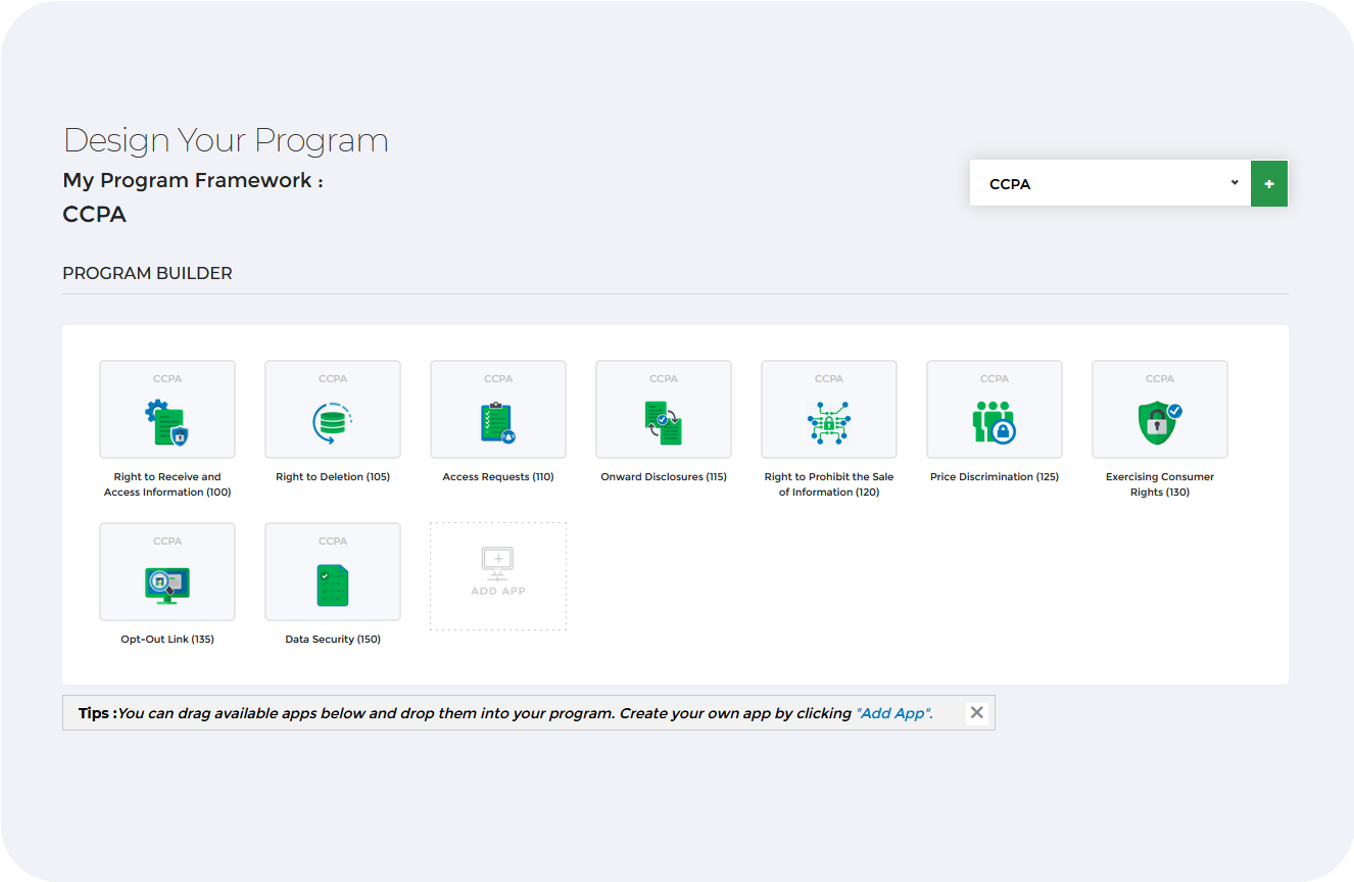 CCPA Framework Dashboard