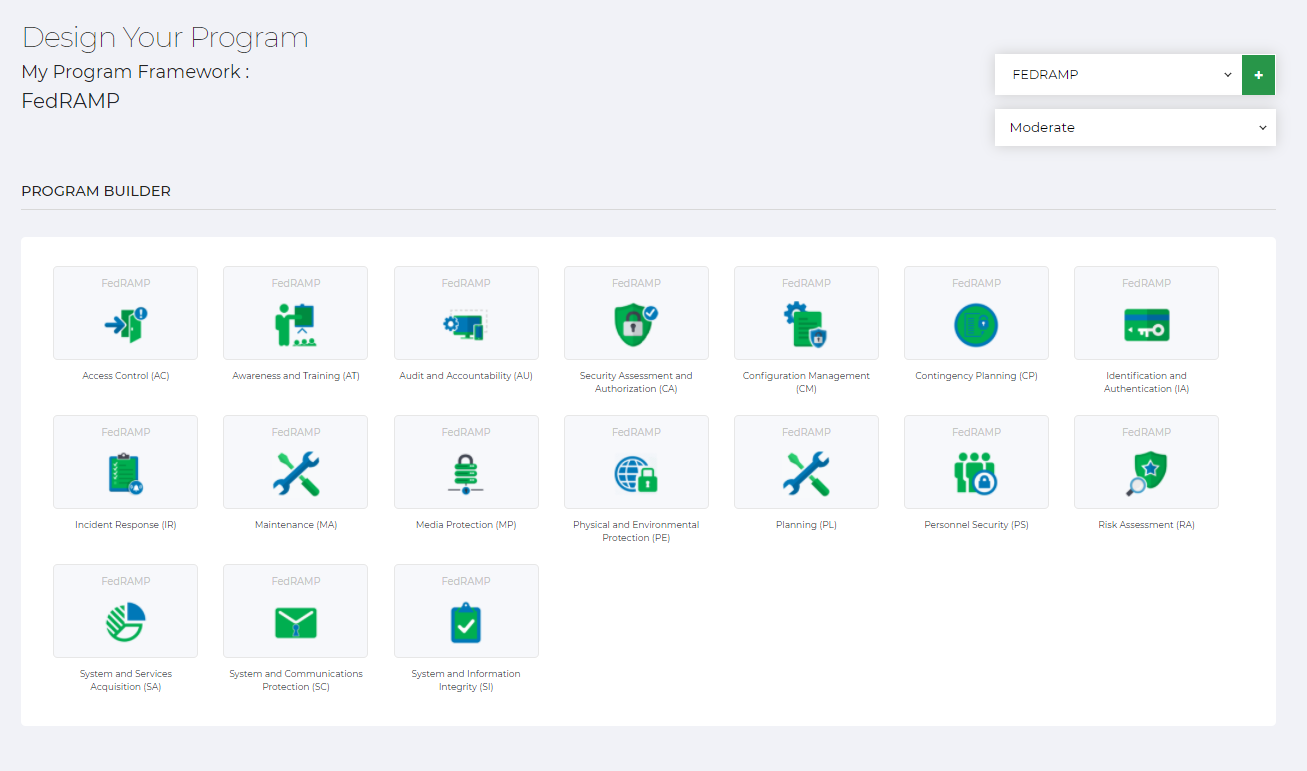 Design Your FedRAMP Platform Screenshot