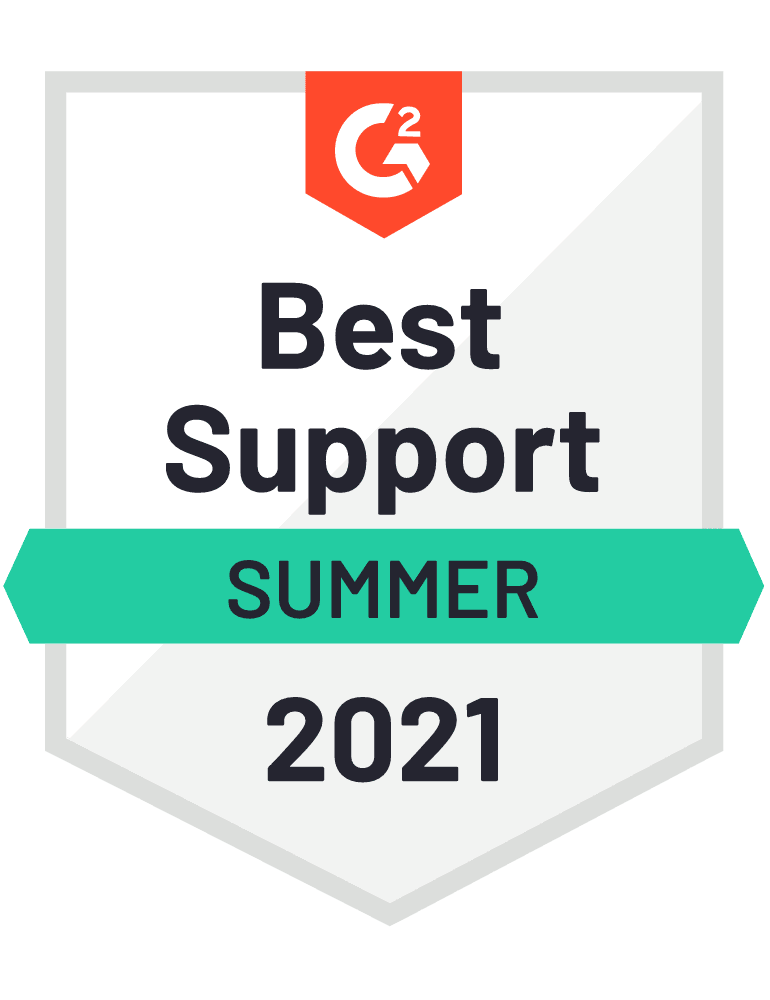 Best Support - G2 Badge 2021