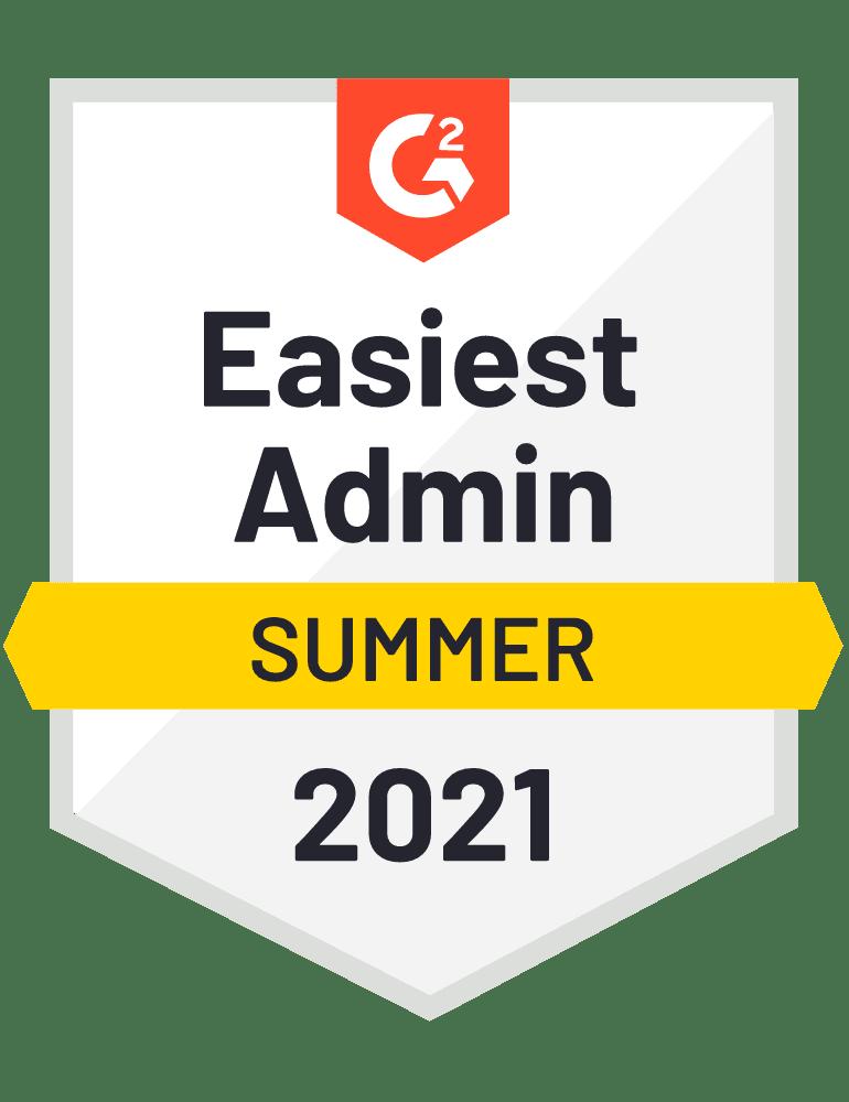 Easiest Admin - G2 Badge 2021