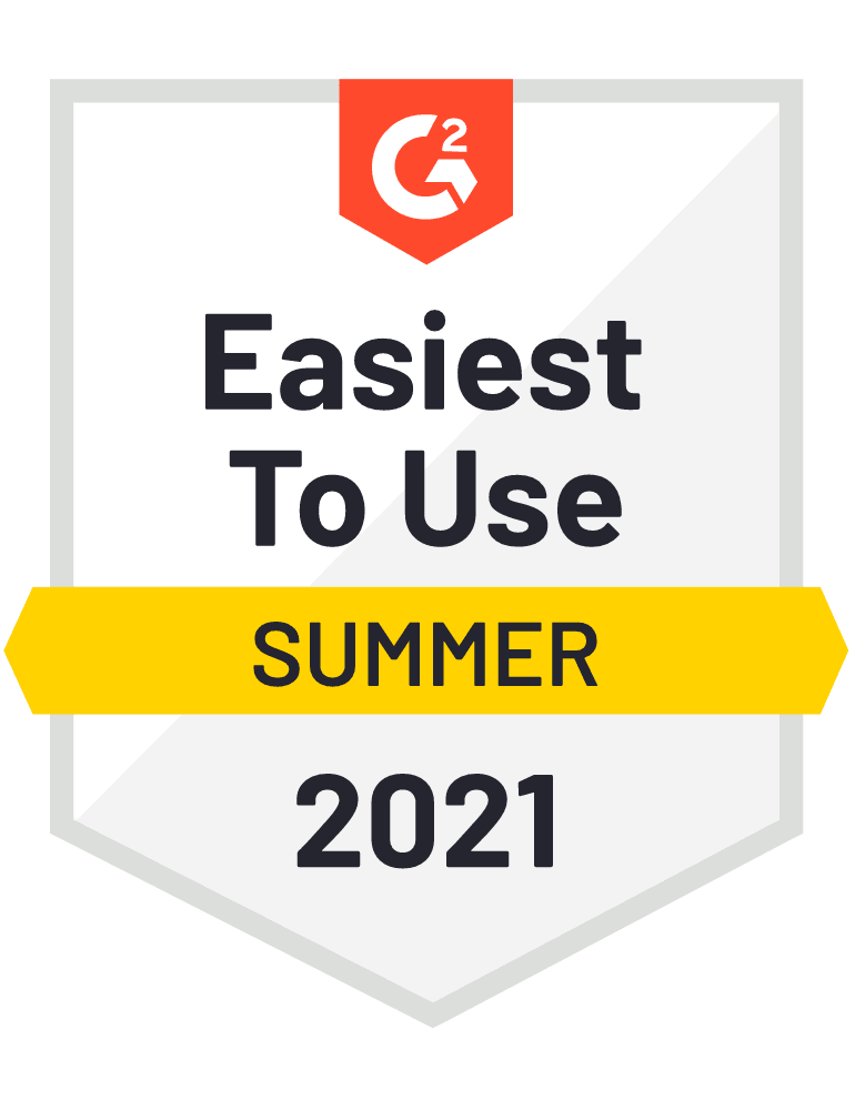Easiest to Use - G2 Badge 2021