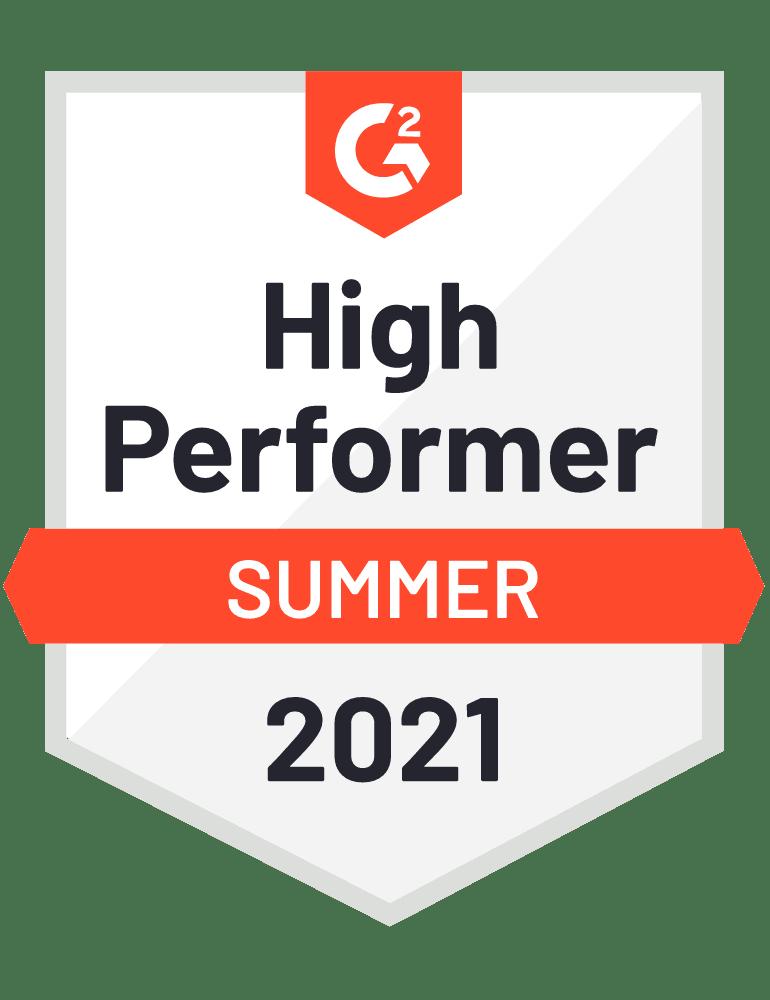 High Performer - G2 Badge 2021