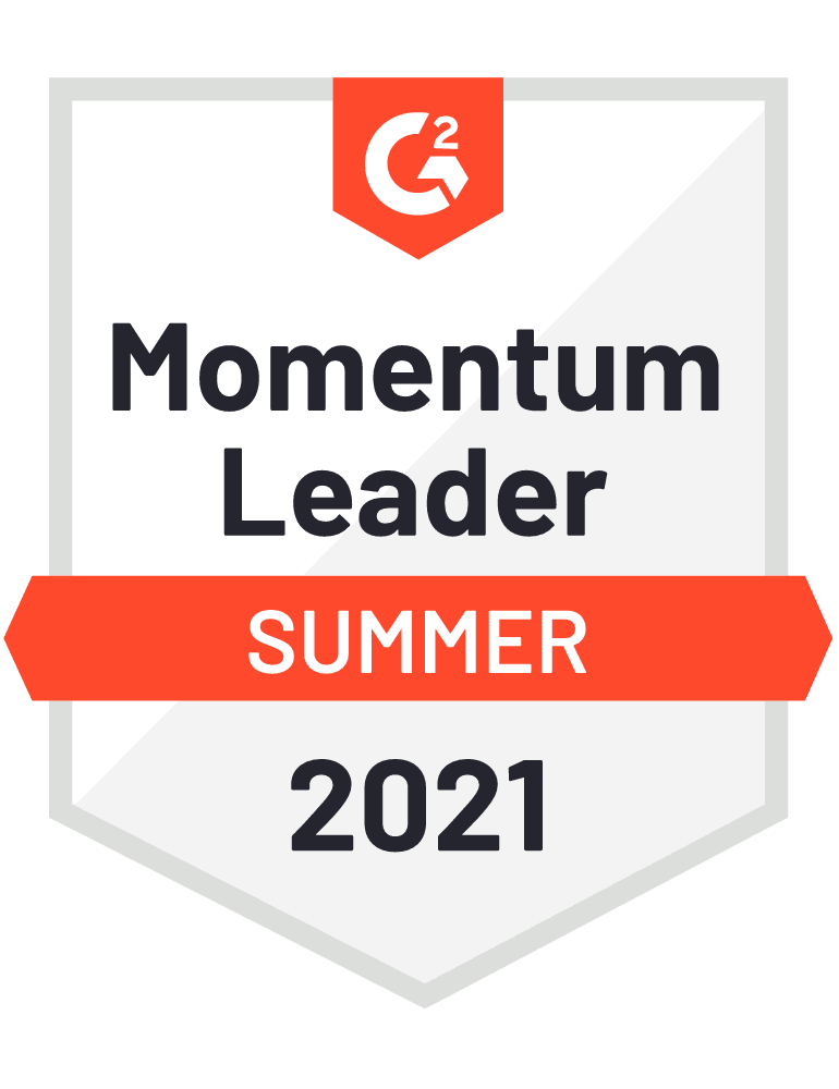 Momentum Leader - G2 Badge 2021