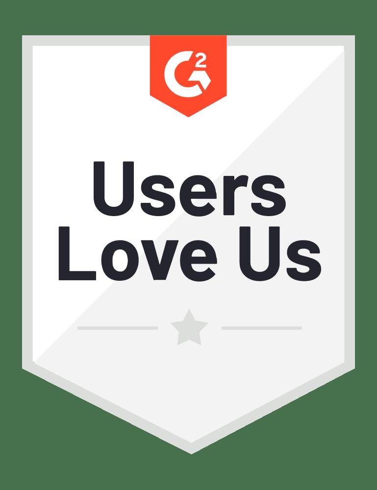Users Love Us Badge - G2