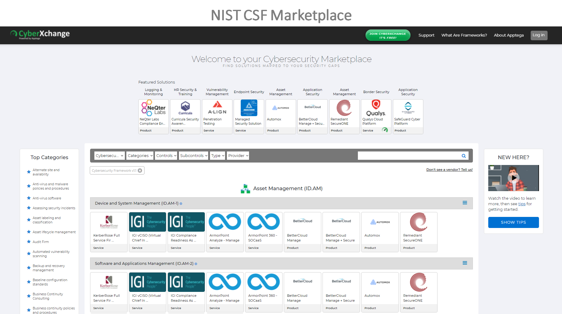 NIST CSF Marketplace