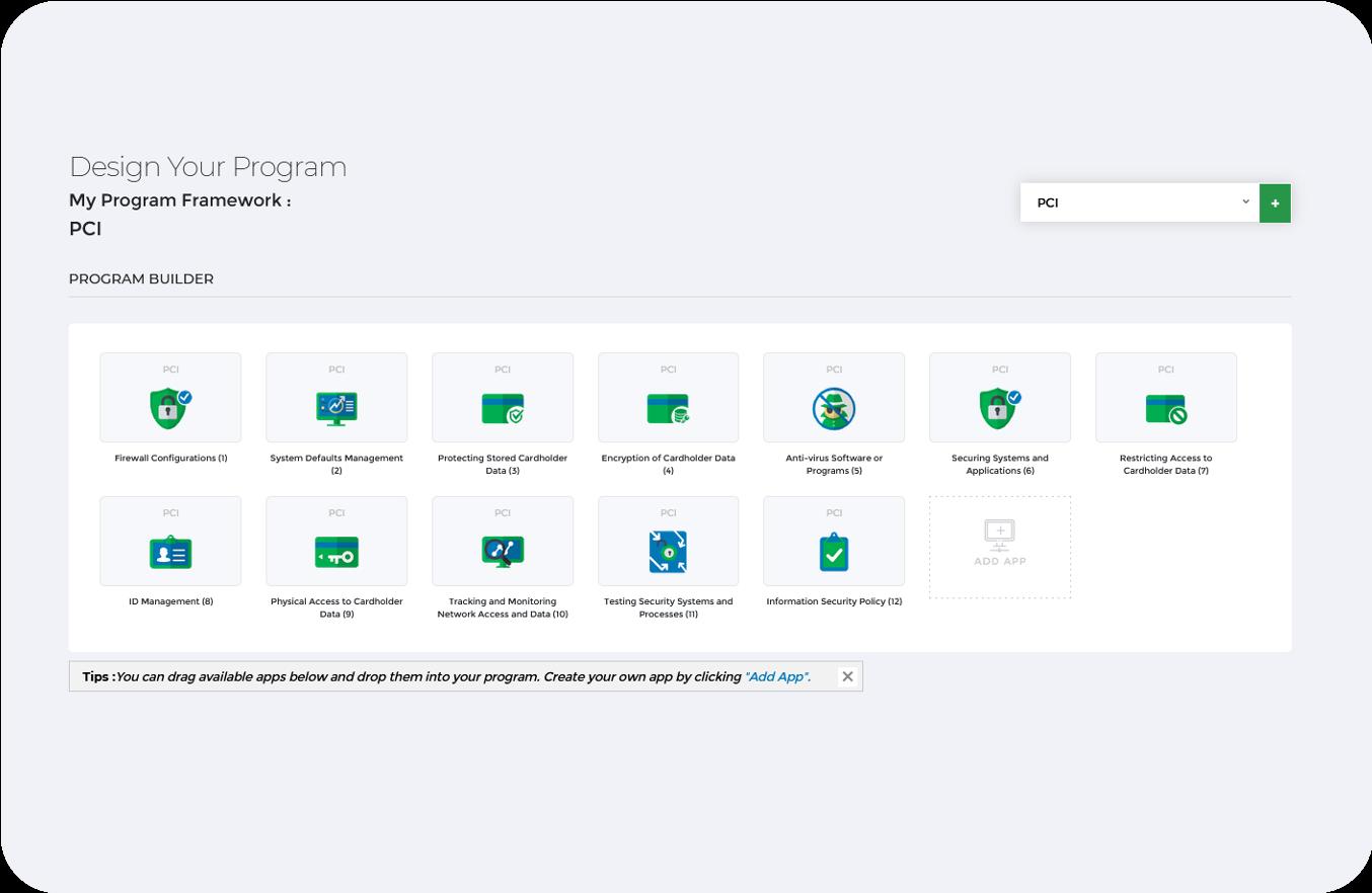 PCI DSS Framework Dashboard