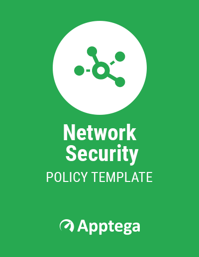 Network Security Policy Template cover page