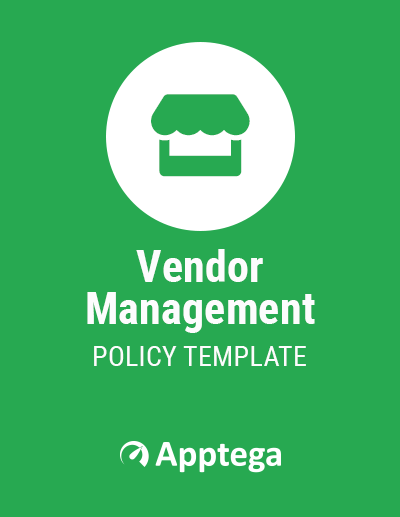 Vendor Management Policy Template Cover Page