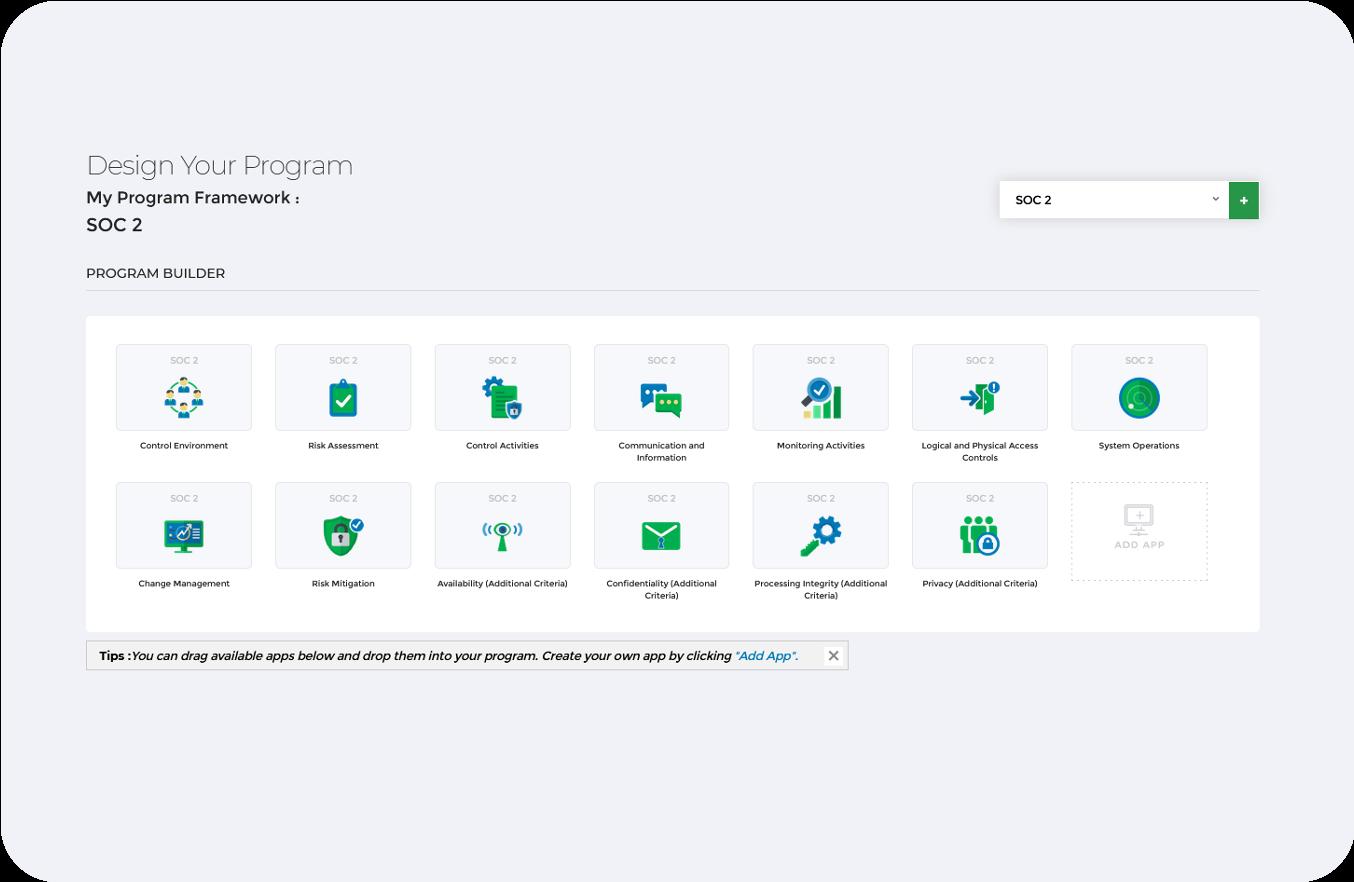 SOC 2 Framework Dashboard