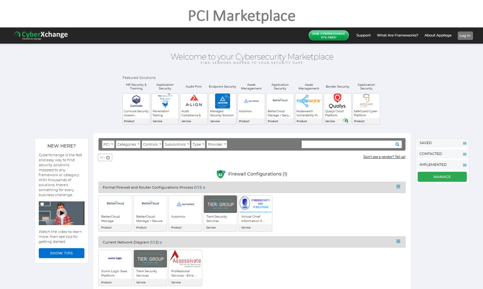 PCI DSS Marketplace
